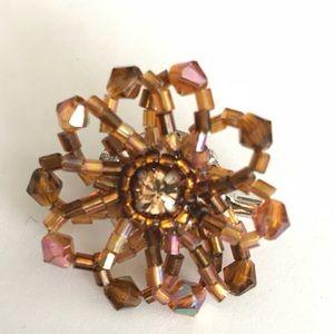 Jewelry - Topaz coloured brooch